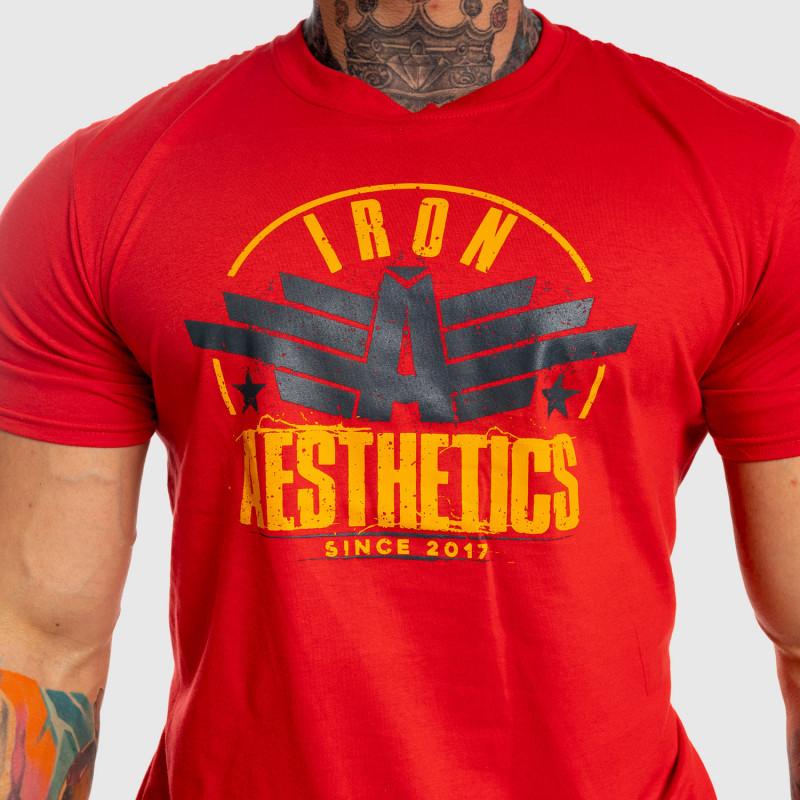 Férfi fitness póló Iron Aesthetics Force, piros-4
