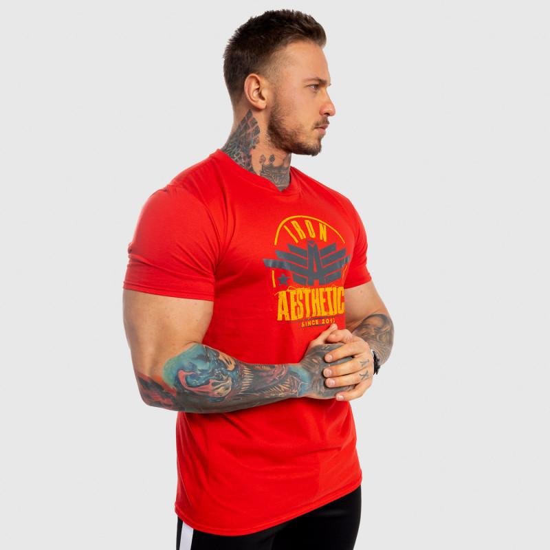 Férfi fitness póló Iron Aesthetics Force, piros-6
