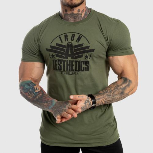 Férfi fitness póló Iron Aesthetics Force, zöld