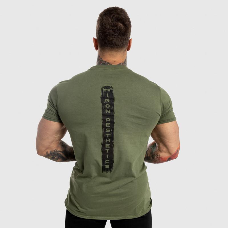 Férfi fitness póló Iron Aesthetics Force, zöld-2