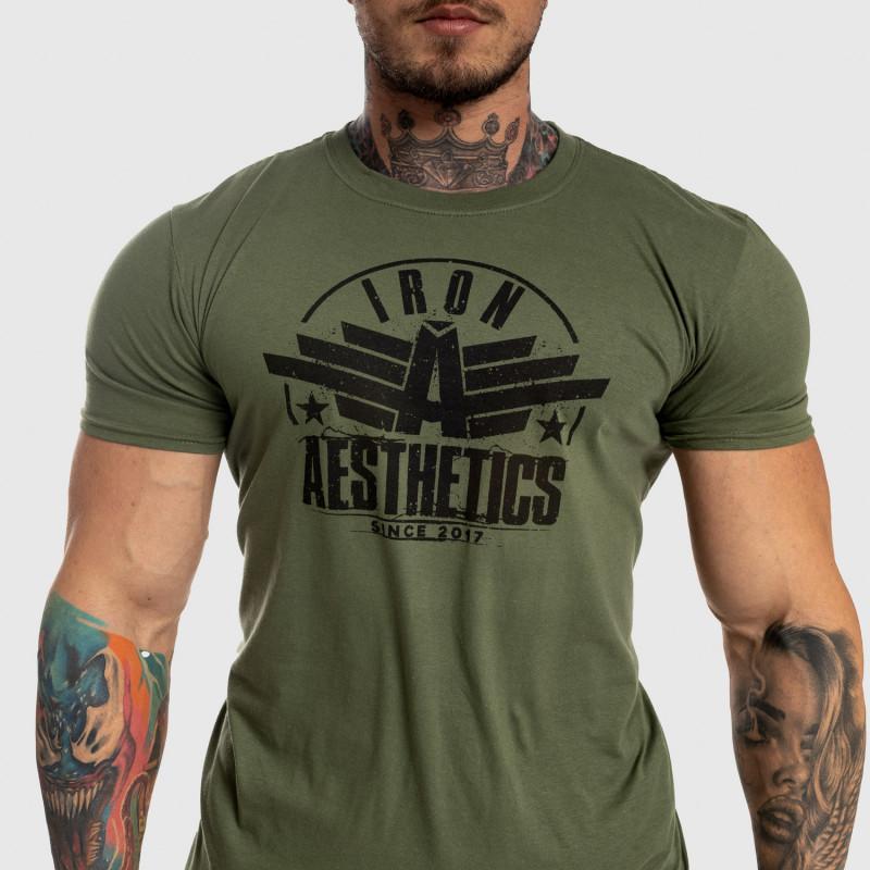 Férfi fitness póló Iron Aesthetics Force, zöld-5