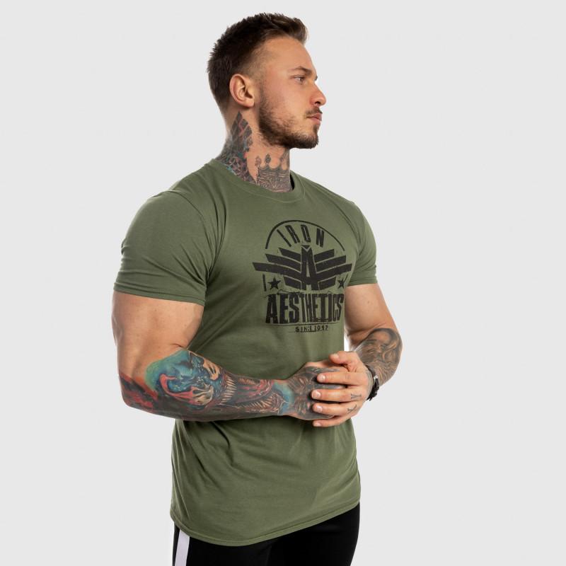 Férfi fitness póló Iron Aesthetics Force, zöld-6