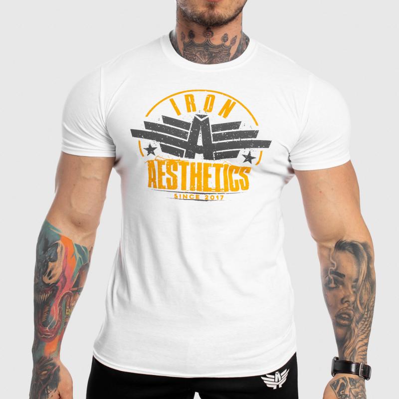 Férfi fitness póló Iron Aesthetics Force, fehér-1