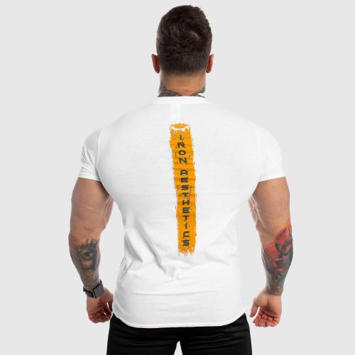 Férfi fitness póló Iron Aesthetics Force, fehér