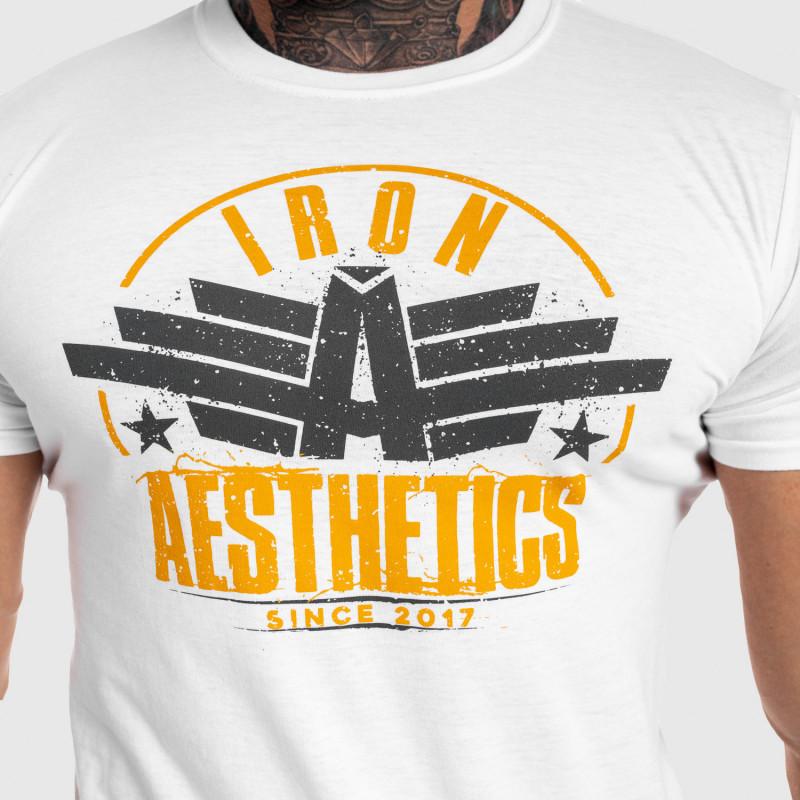 Férfi fitness póló Iron Aesthetics Force, fehér-4