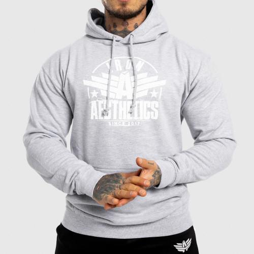 Fitness cipzár nélküli pulóver Iron Aesthetics Force, szürke