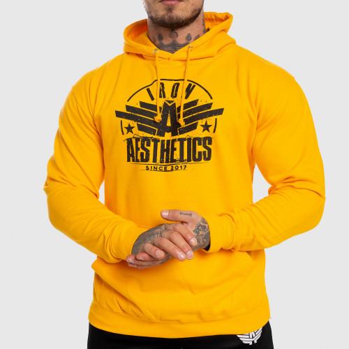 Fitness cipzár nélküli pulóver Iron Aesthetics Force, sárga