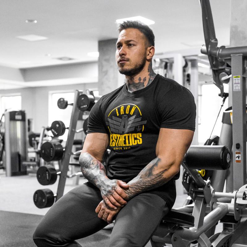 Férfi fitness póló Iron Aesthetics Force, fekete-4