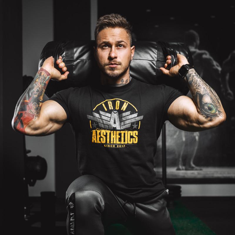 Férfi fitness póló Iron Aesthetics Force, fekete-3