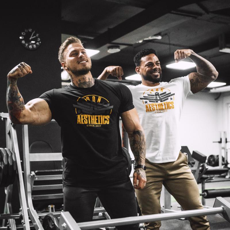 Férfi fitness póló Iron Aesthetics Force, fekete-10