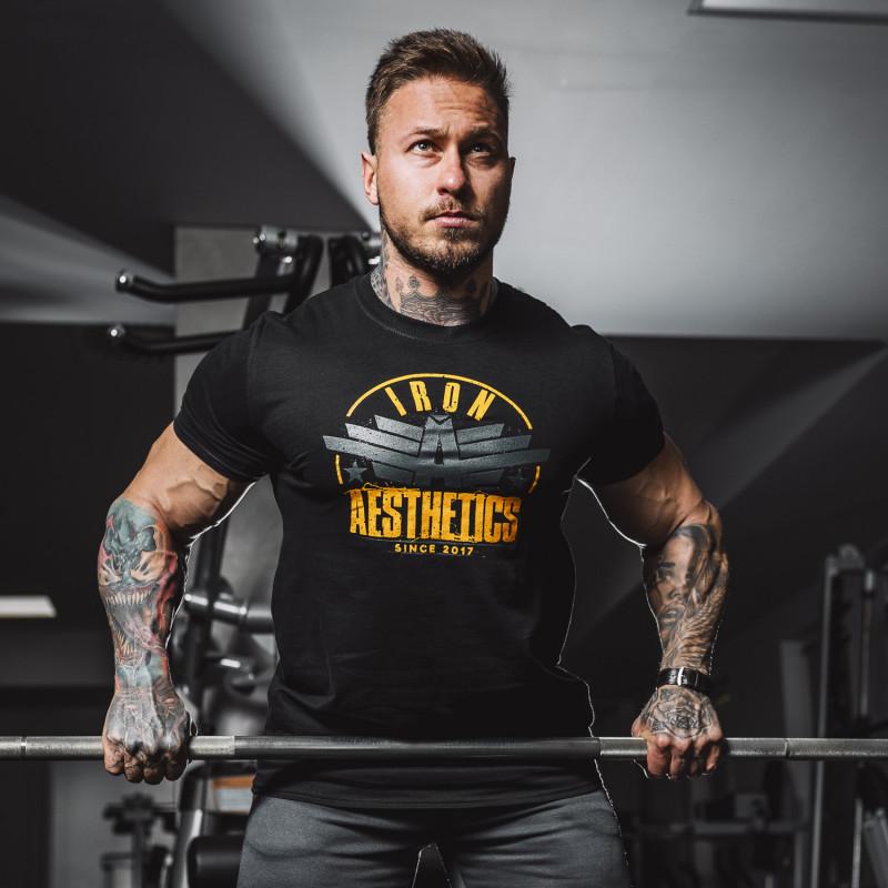 Férfi fitness póló Iron Aesthetics Force, fekete-5