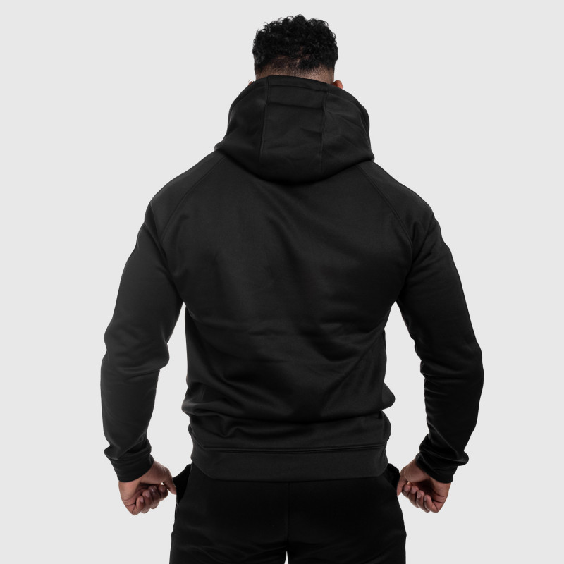 Cipzáros sportos pulóver Iron Aesthetics Boxed, fekete-2