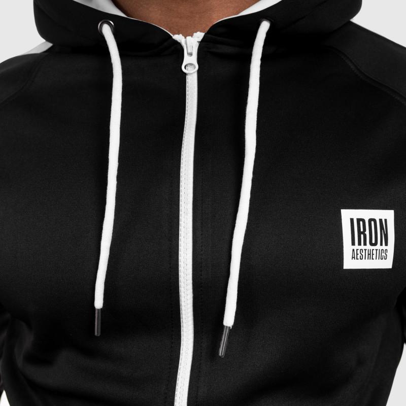 Cipzáros sportos pulóver Iron Aesthetics Boxed, fekete-14
