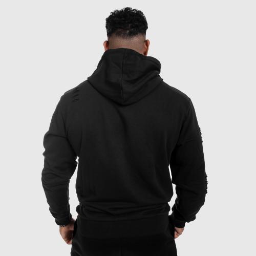 Sportos cipzár nélküli pulóver Iron Aesthetics Distressed, fekete