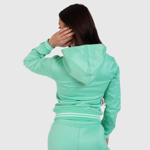 Női fitness cipzáros pulcsi Iron Aesthetics Original, zöld