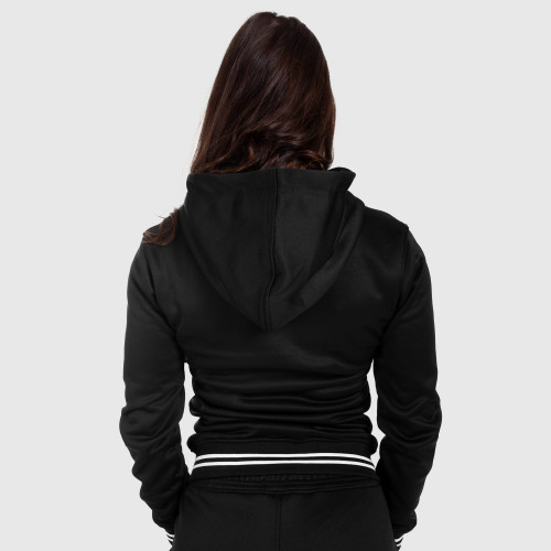 Női fitness cipzáros pulcsi Iron Aesthetics Original, fekete