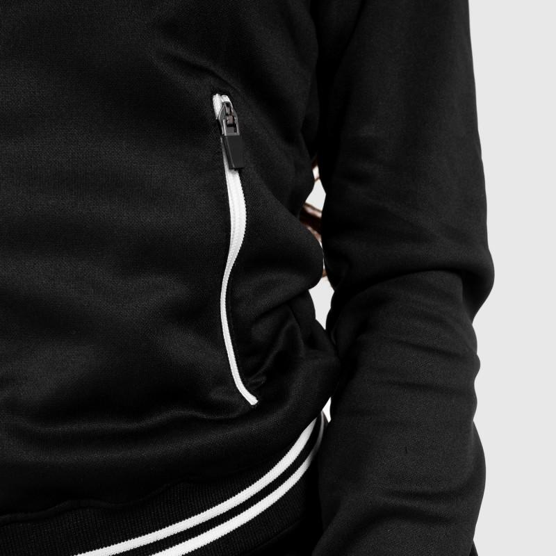 Női fitness cipzáros pulcsi Iron Aesthetics Original, fekete-6