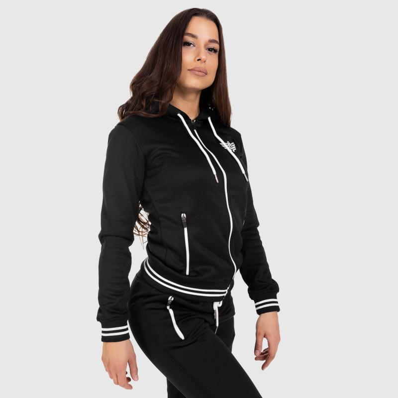Női fitness cipzáros pulcsi Iron Aesthetics Original, fekete-9