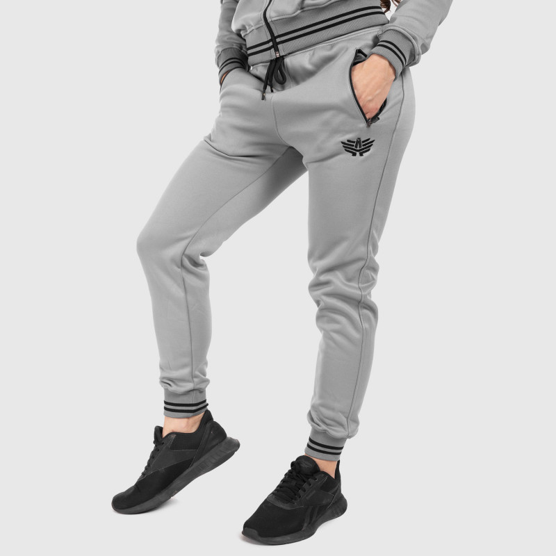Női fitness melegítő nadrág Iron Aesthetics Original, szürke-1