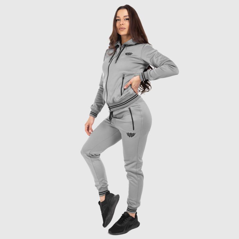 Női fitness melegítő nadrág Iron Aesthetics Original, szürke-3
