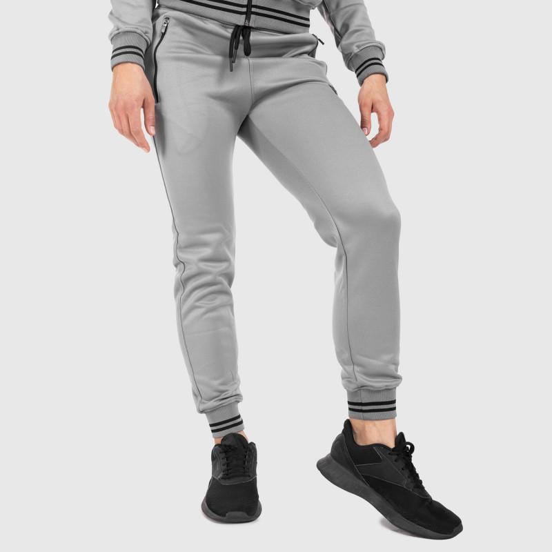 Női fitness melegítő nadrág Iron Aesthetics Original, szürke-7