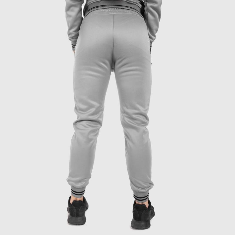 Női fitness melegítő nadrág Iron Aesthetics Original, szürke-9