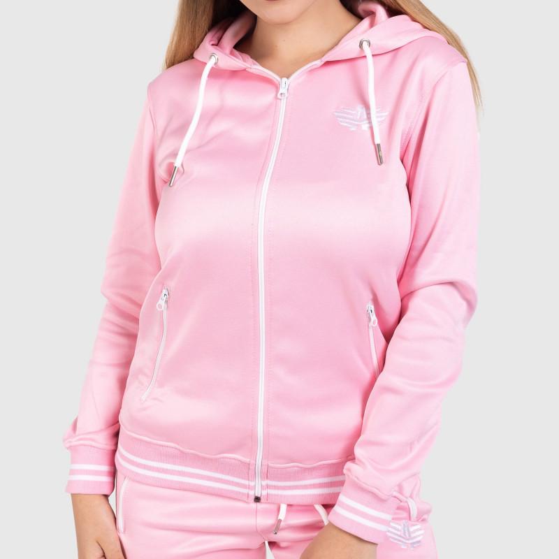 Női fitness cipzáros pulcsi Iron Aesthetics Original, rózsaszín-1