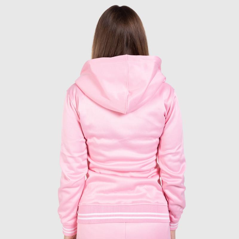 Női fitness cipzáros pulcsi Iron Aesthetics Original, rózsaszín-2