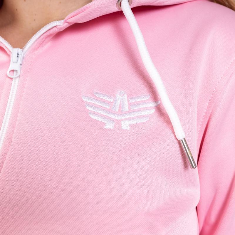 Női fitness cipzáros pulcsi Iron Aesthetics Original, rózsaszín-4