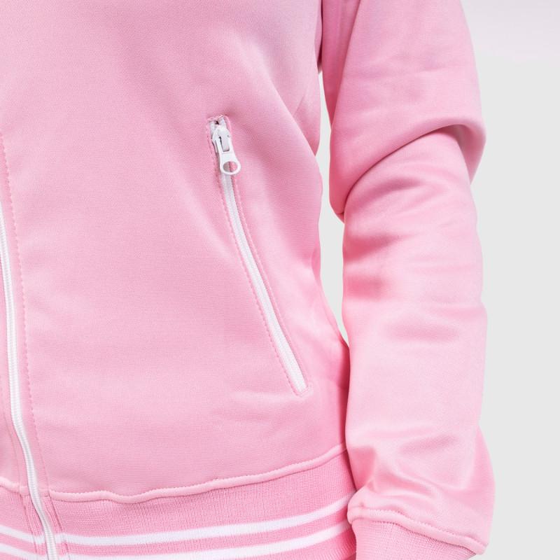Női fitness cipzáros pulcsi Iron Aesthetics Original, rózsaszín-5