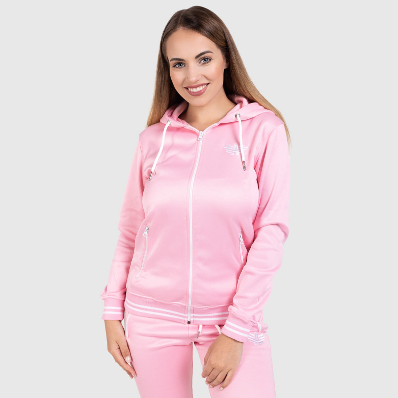 Női fitness cipzáros pulcsi Iron Aesthetics Original, rózsaszín-6