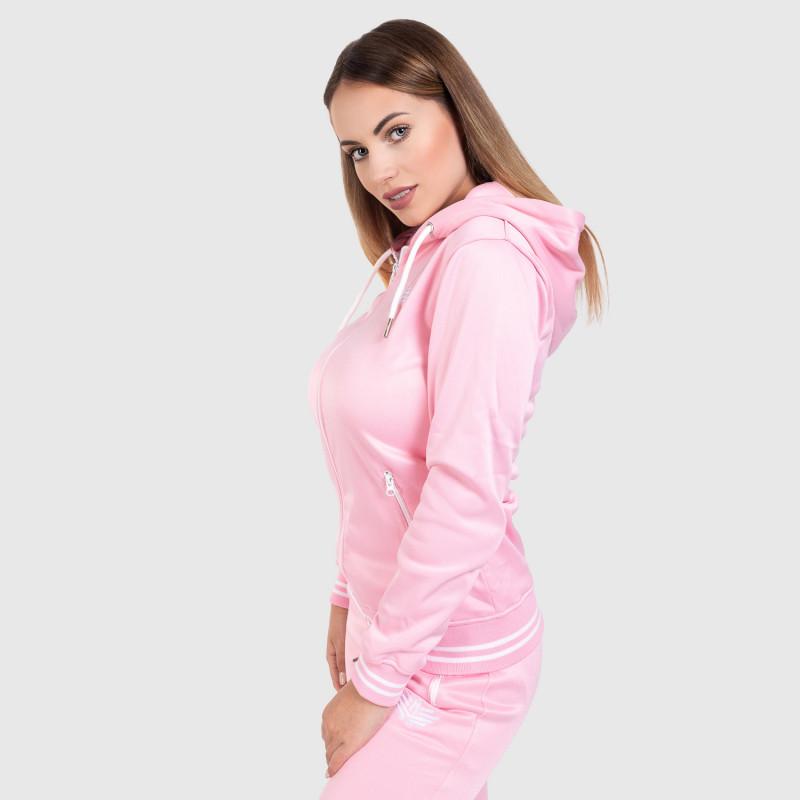 Női fitness cipzáros pulcsi Iron Aesthetics Original, rózsaszín-7