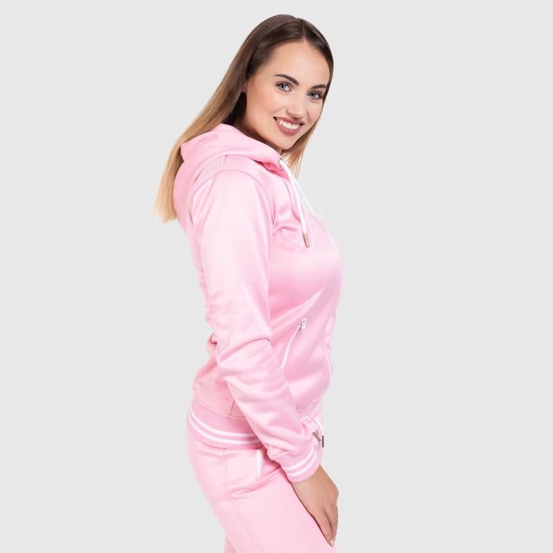 Női fitness cipzáros pulcsi Iron Aesthetics Original, rózsaszín-8