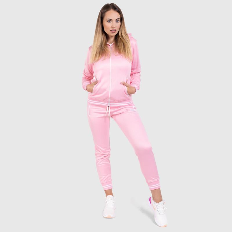 Női fitness cipzáros pulcsi Iron Aesthetics Original, rózsaszín-9