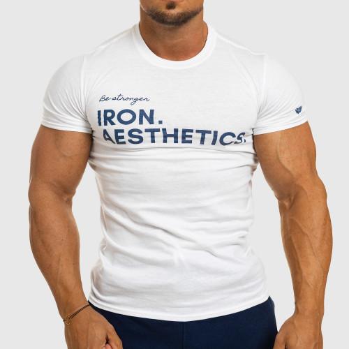 Férfi fitness póló Iron Aesthetics Be Stronger, fehér