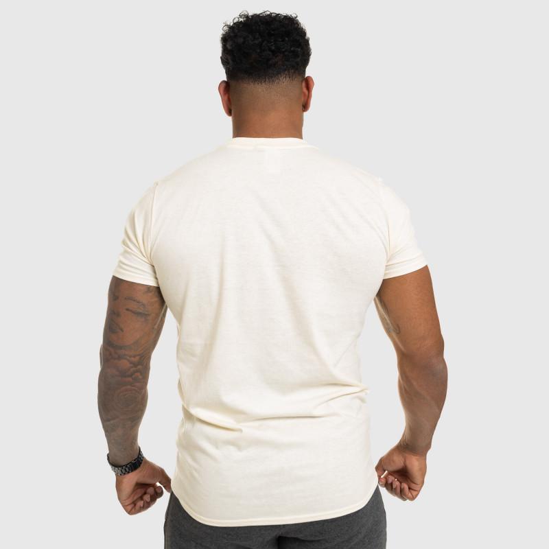 Férfi fitness póló IRON, bézs-2