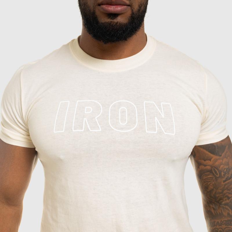 Férfi fitness póló IRON, bézs-3