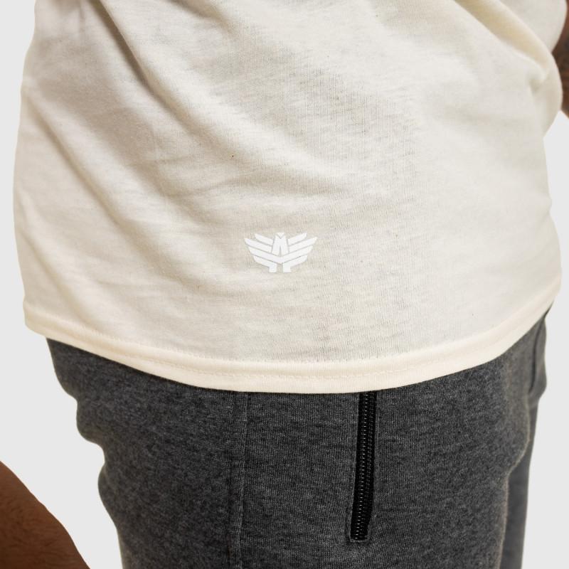 Férfi fitness póló IRON, bézs-4