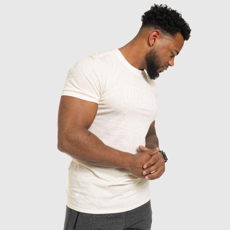 Férfi fitness póló IRON, bézs-7