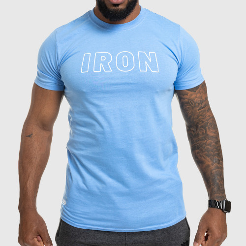 Férfi fitness póló IRON, kék