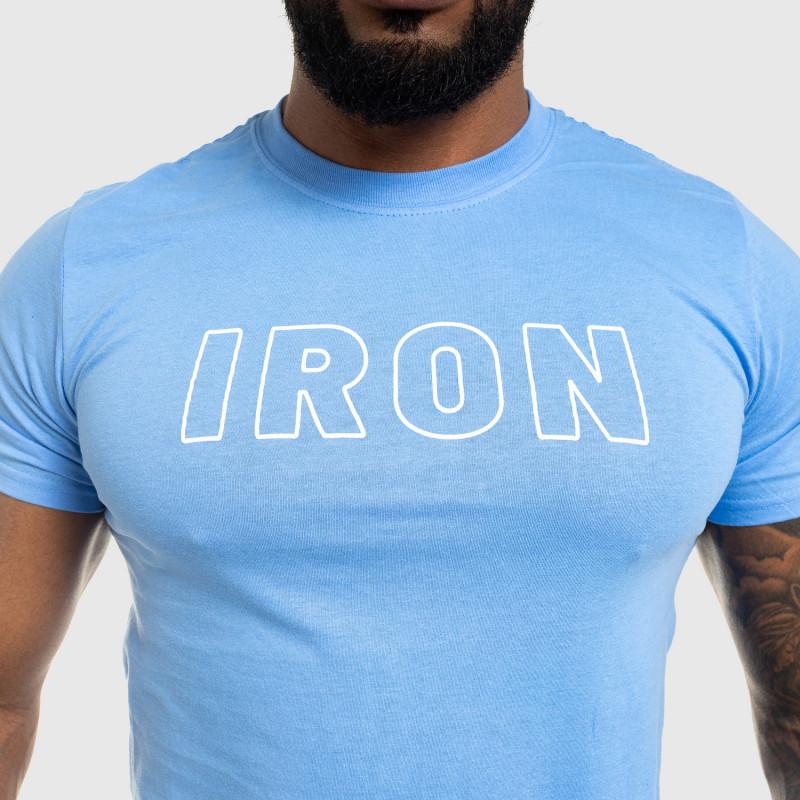 Férfi fitness póló IRON, kék-5