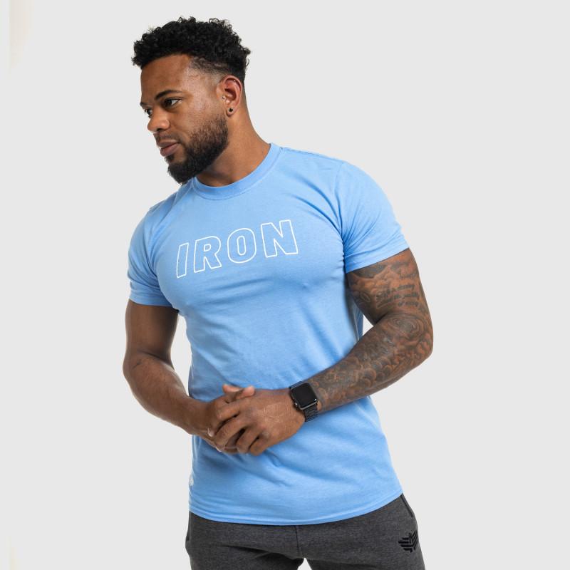 Férfi fitness póló IRON, kék-9