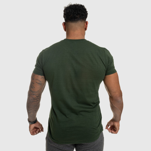 Férfi fitness póló IRON, zöld