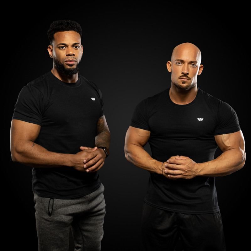 Férfi fitness póló Iron Aesthetics Standard, fekete-3