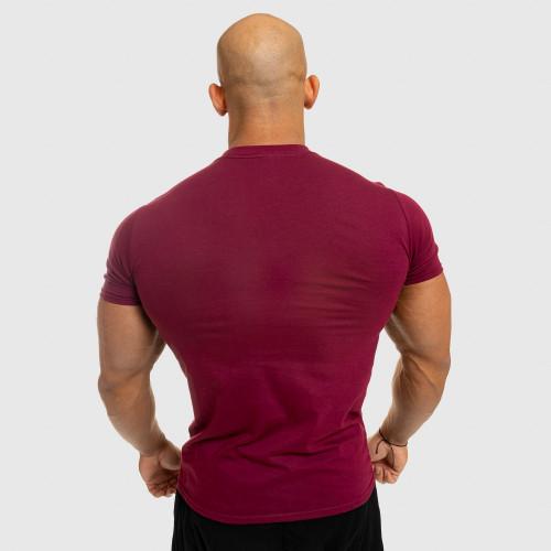 Férfi fitness póló Iron Aesthetics Standard, bordó