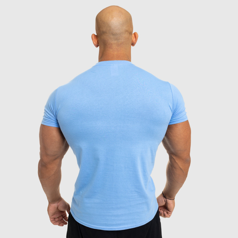 Férfi fitness póló Iron Aesthetics Standard, kék-2