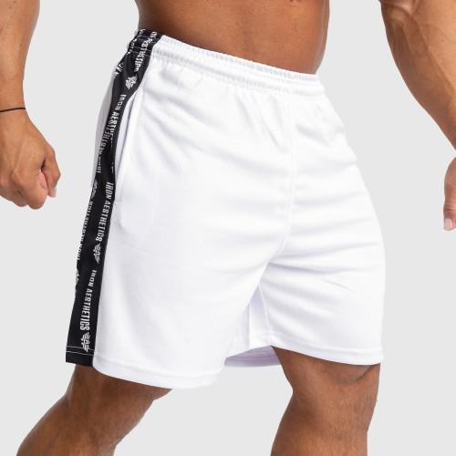 Funkciós rövidnadrág Iron Aesthetics Signature, fehér
