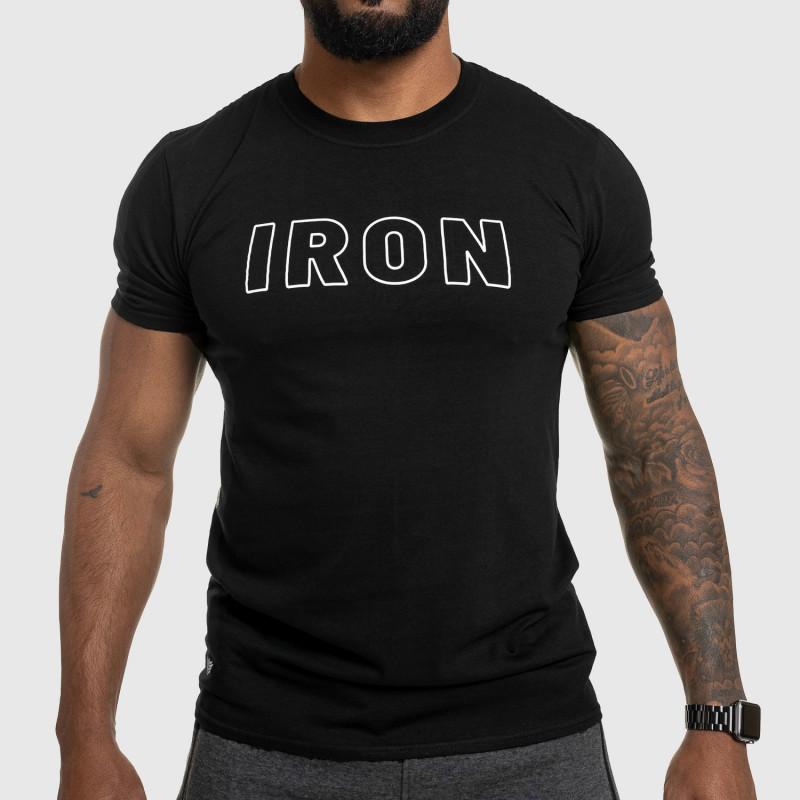 Férfi fitness póló IRON, fekete-1