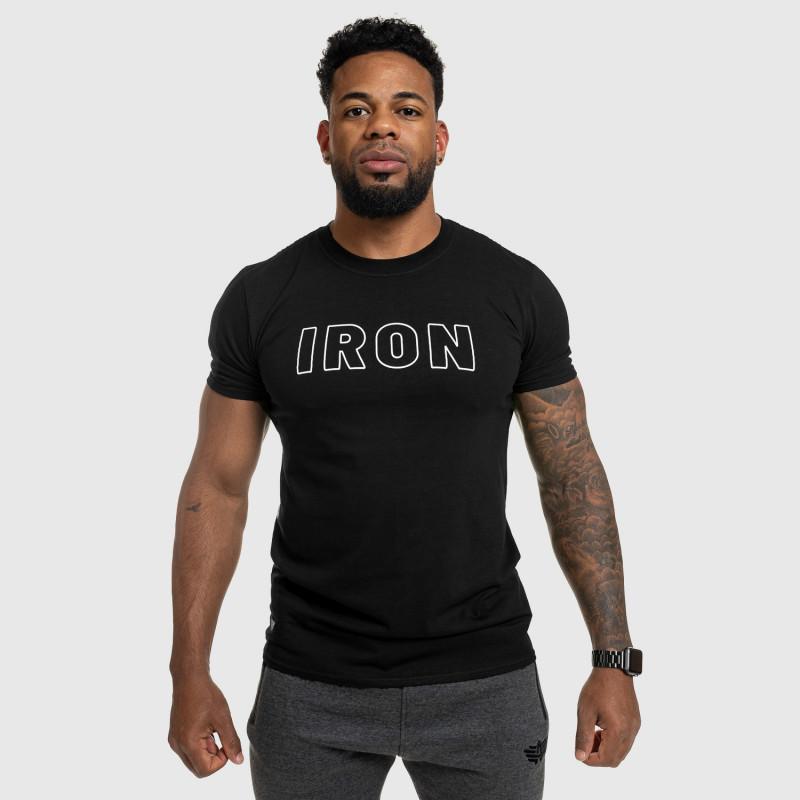 Férfi fitness póló IRON, fekete-5