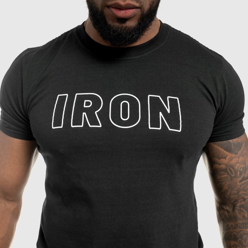 Férfi fitness póló IRON, fekete-6